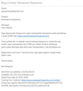 Scam dari Blanja.com