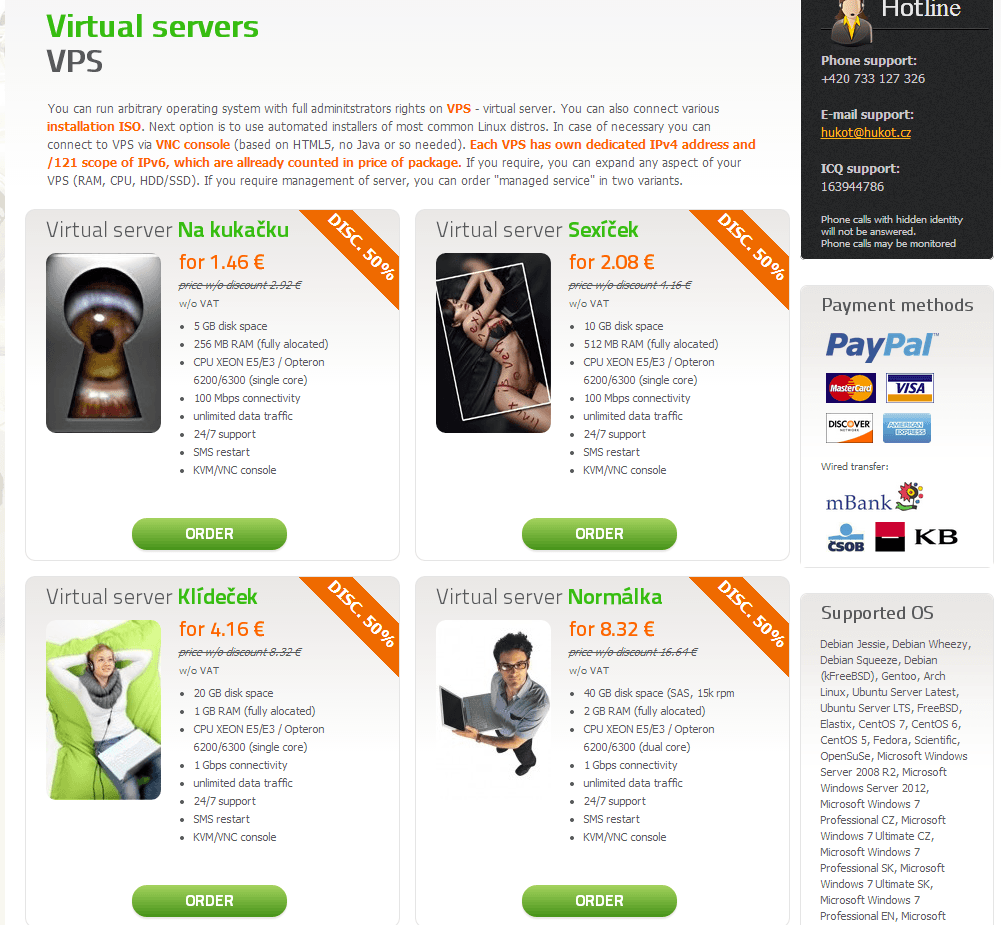 Testing Hukot Virtual server Na kuka?ku 256MB 5GB Unmetered Czech