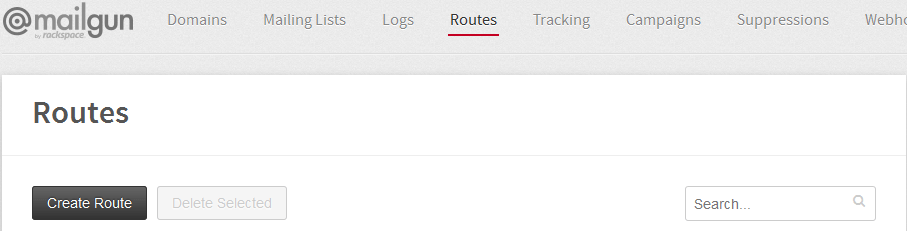 Mailgun Route