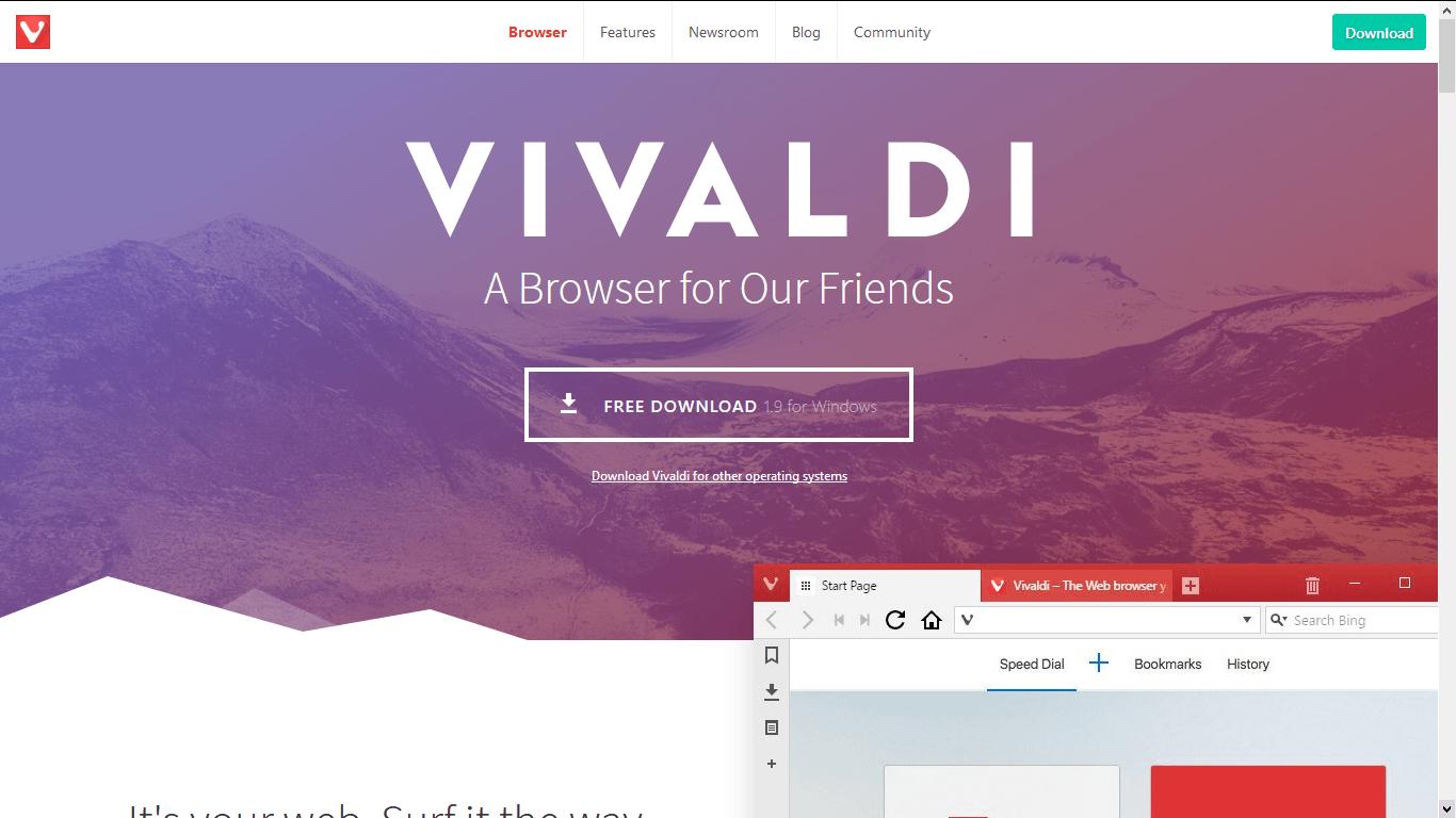 Vivaldi – Browser alternatif Firefox dan Chrome
